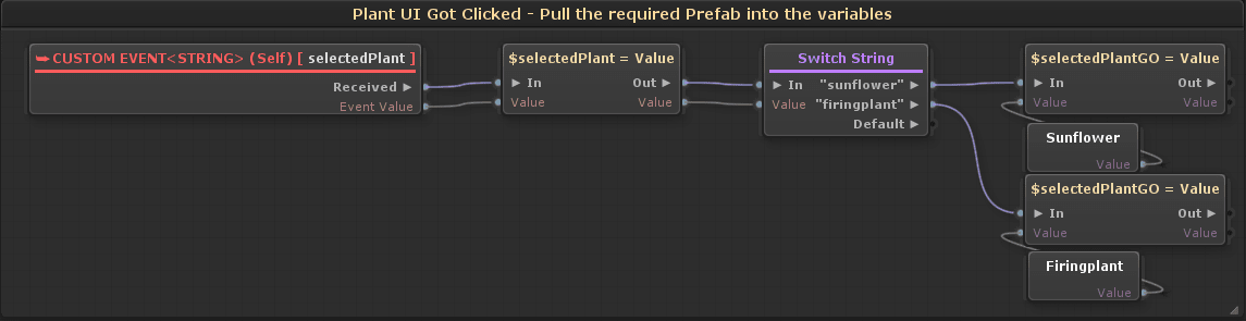 selectedPlant - UI Plant Button Got Clicked